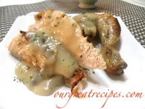 Roasted Chicken with Mushroom Gravy