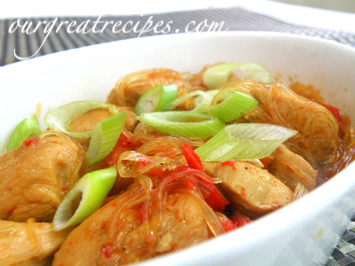 Spicy Chicken Stir Fry with Noodles