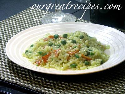 Green Pea Risotto