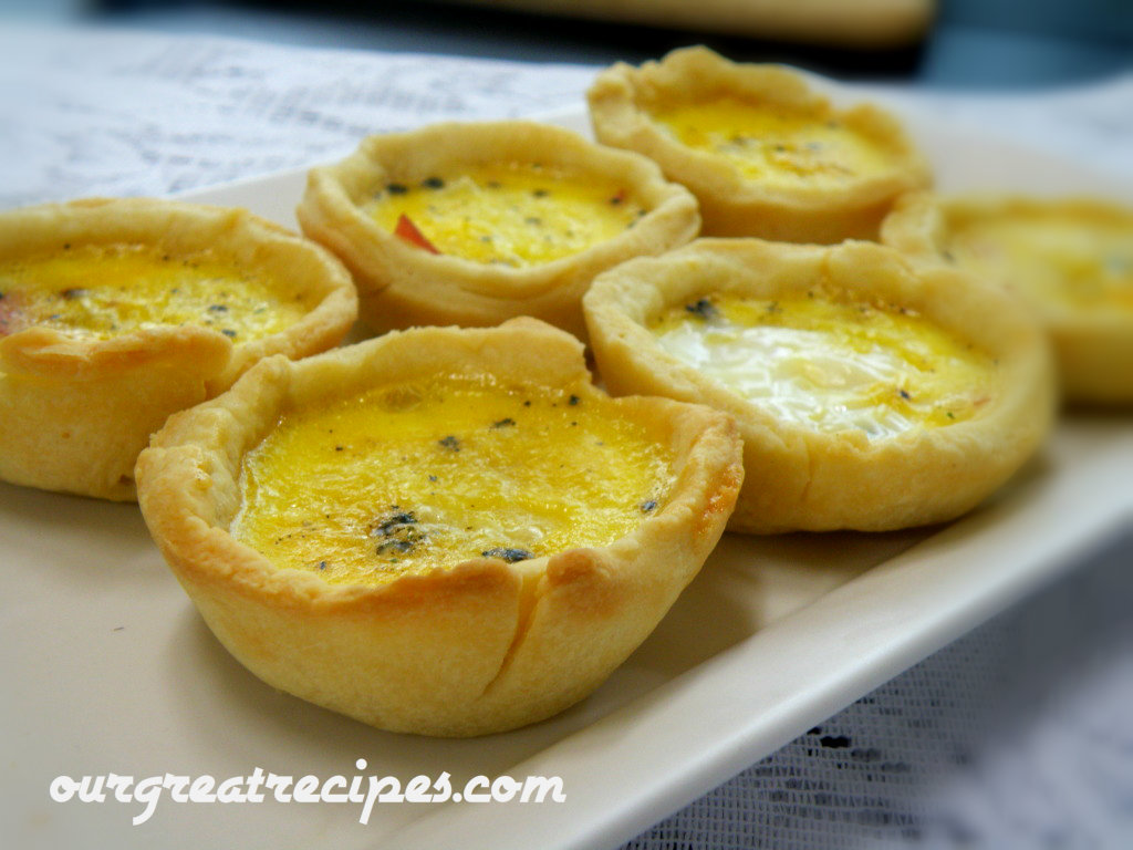 Scrambled Egg and Ham Tarts