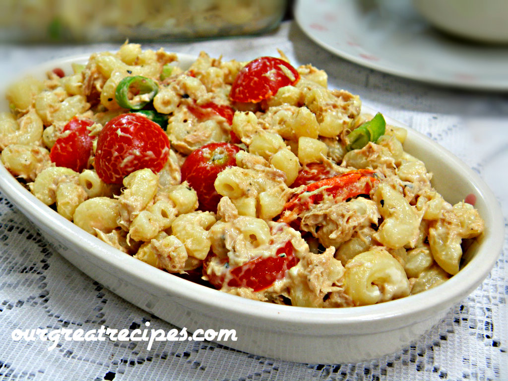 Macaroni tuna salad recipe for Macaroni salad with tuna fish