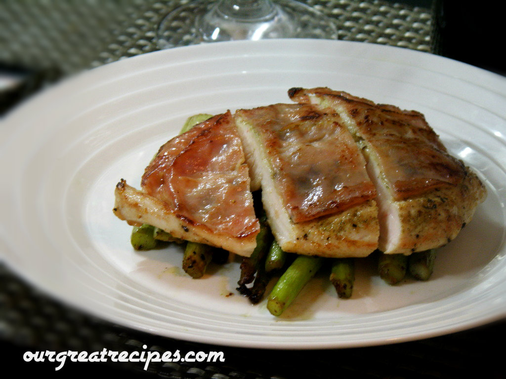 Chicken Prosciutto with Sauteed Asparagus