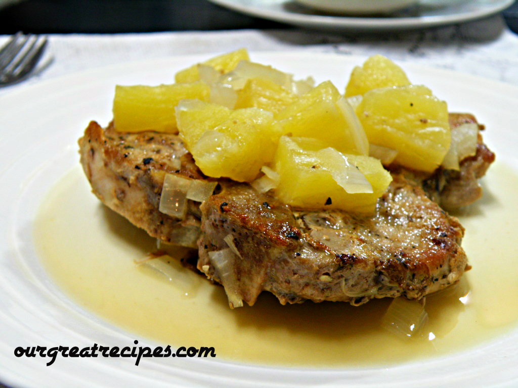 Pork Loin Chops with Pineapple Sauce