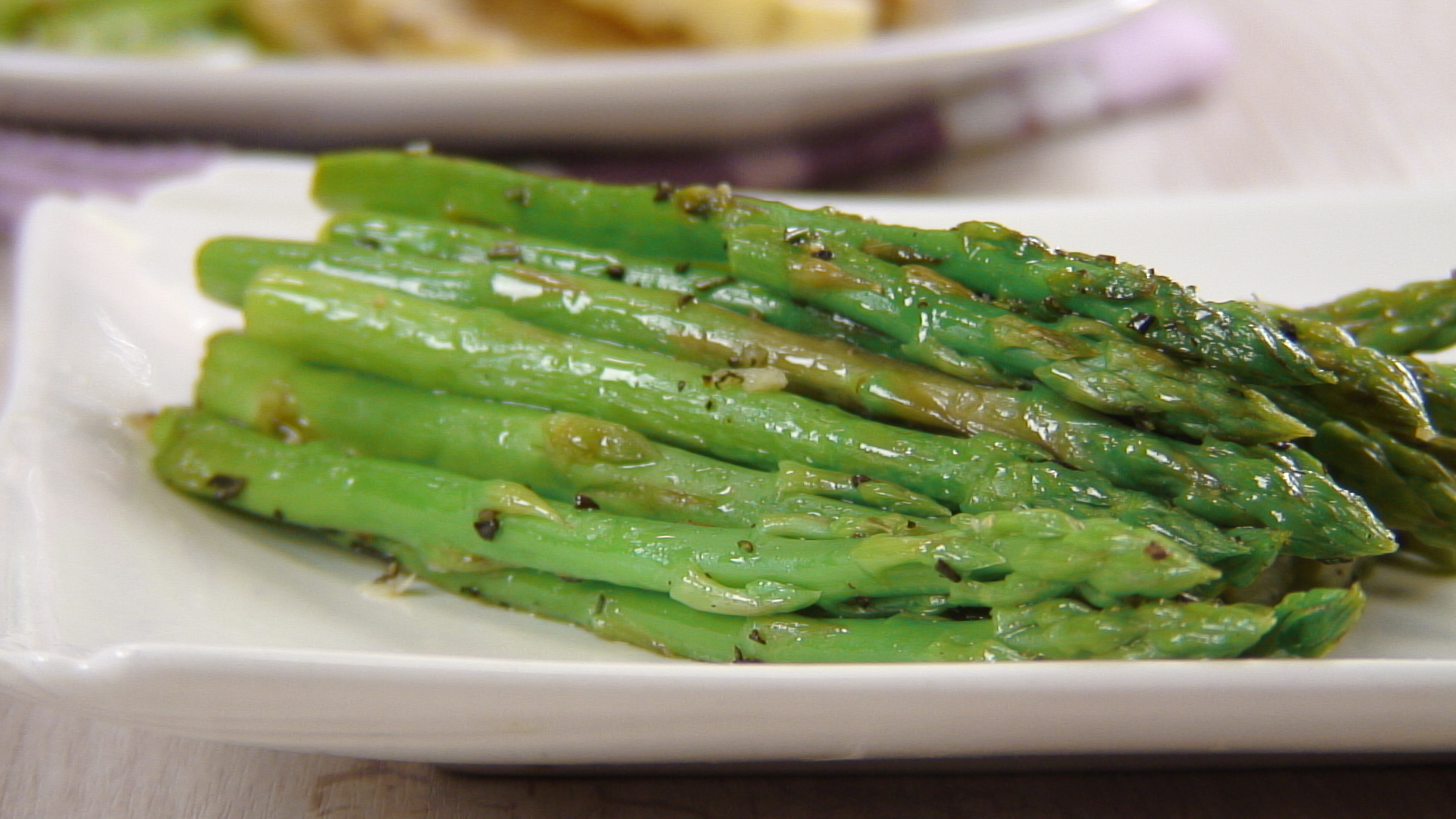Sauteed Asparagus with Rosemary and Garlic